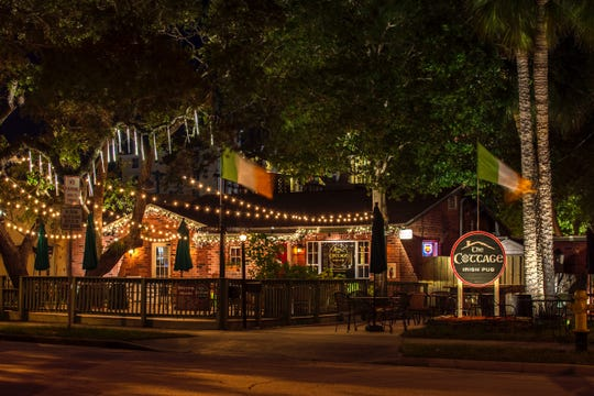 "GS Campbell's Restaurants After Dark photos: The Cottage Irish Pub in the Eau Gallie Arts District. ""Never been in this place. Can't say I've heard much about it. I know its a great looking place. Can anyone tell us something about it?"""