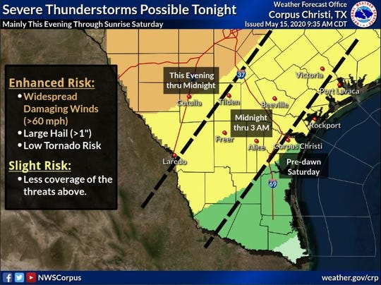 Severe thunderstorms are possible Friday evening and through the night.