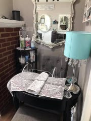 A nail station is shown at The Langmore Salon in Mullica Hill. It has plexiglass which has been installed for protection against the spread of the coronavirus. Salons across the state have been shut down for several months but are beginning preparation to reopen.