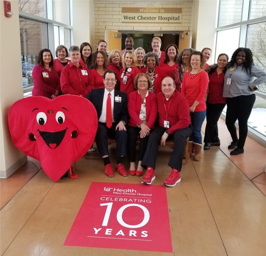 Workers at UC Health's West Chester Hospital look forward to showing their support for good heart health by wearing red on National Wear Red Day.