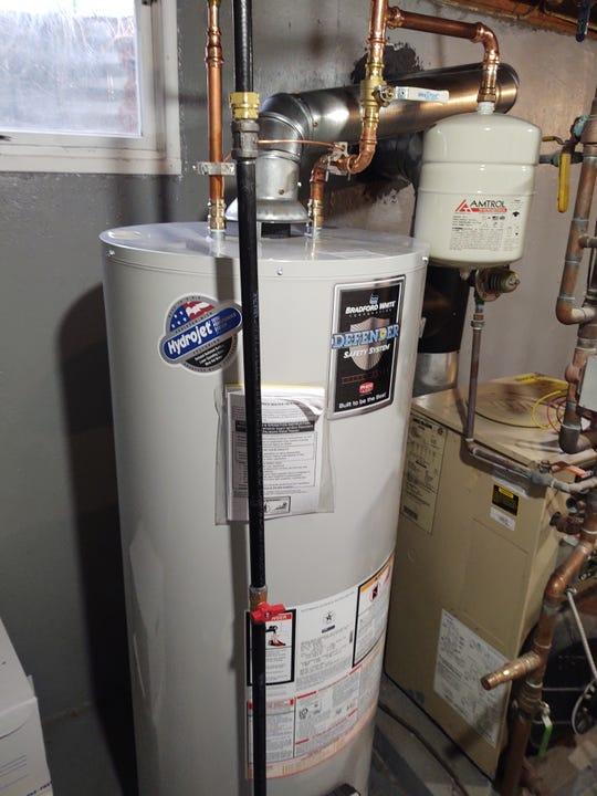 An example of a hot water heater posted by Robert Setlock, as part of his virtual lesson.