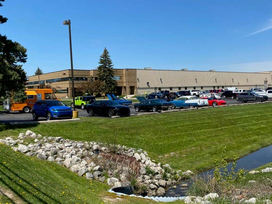 About 100 cruisers gathered in Auburn Hills May 13 to enjoy their cars after the COVID lockdown.