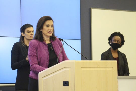 Gov. Gretchen Whitmer said she hoped Michigan'sK-12 students will be able to return to some form of in-person instruction in the fall.