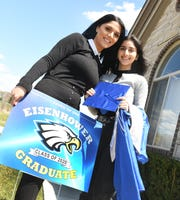Lidia Daewood, left, of Shelby Township and her daughter Deyana Sarkis are still hopeful for a graduation ceremony.