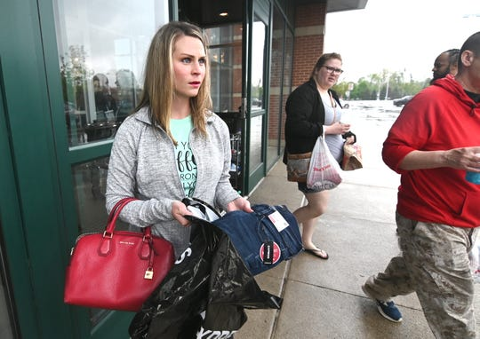 Hilary Wilcox of Wixom spent Friday afternoon shopping at Franklin Park Mall in Toledo.