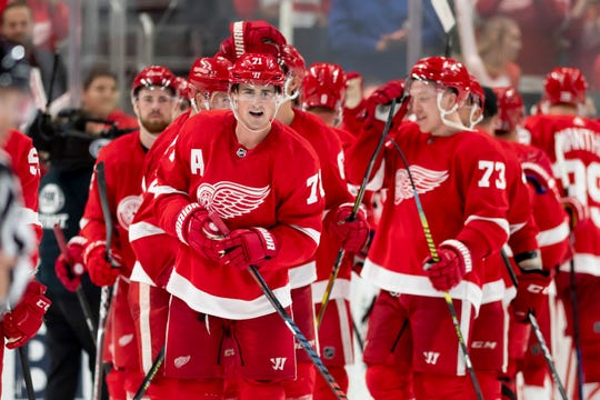 With 53 points, Dylan Larkin was leading the Red Wings in scoring when the season was put on hold.