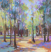 """""""Whitefish Dunes Path,"""" pastel by Mac Schueppert, one of the Door County-based artists featured this year at Fine Line Designs Gallery in Ephraim."""