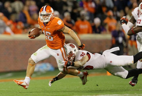 Adam Humphries had 127 receptions while playing for Clemson from 2011 through 2014.