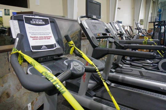 The Peak Health and Wellness Center has deployed several visual cues to promote social distancing and safety among members when the gym reopens on Monday, May 18.