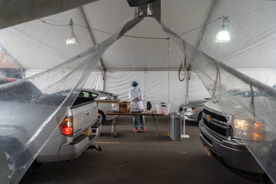 A coronavirus testing record was set at Ithaca's sampling site Thursday with more than 450 people tested.