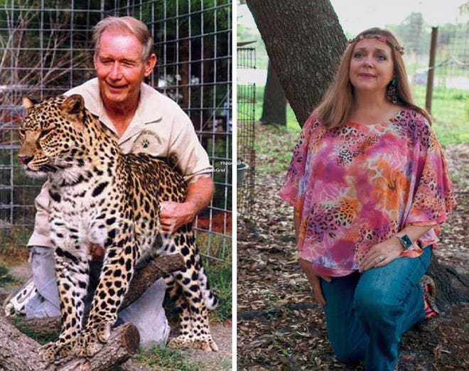 "Multimillionaire Don Lewis, left, was reported missing on Aug. 19, 1997, and hasn't been seen since. His wife at the time, Carole Baskin, was the last person to see him alive. She denies any role in his disappearance. The case was featured in the Netflix documentary, ""Tiger King."""