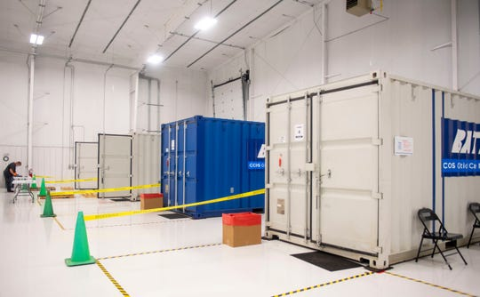 Batelle's Critical Care Decontamination System is now operational in Madison County, the first site in Tennessee, at McKellar-Sipes Regional Airport in Jackson, Tenn., Wednesday, May 13, 2020.