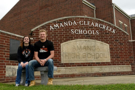 Siblings Katelynn and Jesse Connell are outstanding seniors for the Amanda-Clearcreek High School graduating class of 2020.