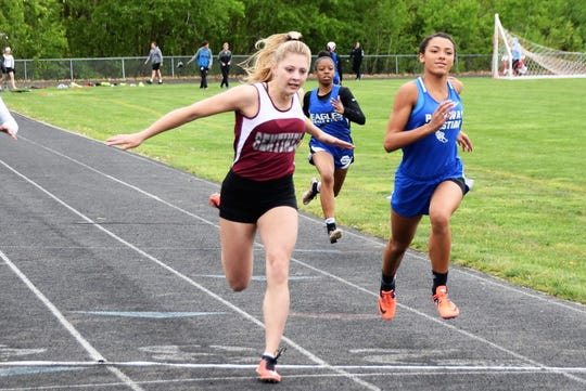 Paige Gallentine of Charyl Stockwell is a two-time all-stater in the 100-meter dash and long jump.