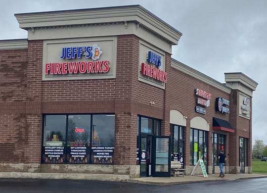Jeff's Fireworks in Genoa Township near Howell was open to in-person shopping Friday, May 15, 2020, in apparent violation of Gov. Gretchen Whitmer's stay-at-home order.