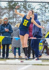 Lindsey Strutz holds the Hartland record in the shot put, among other events.