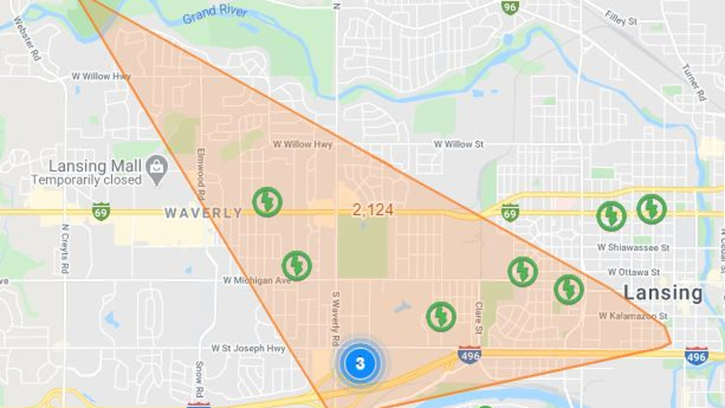 Bwl Power Outage Map Power restored for 2,000 BWL customers Friday morning