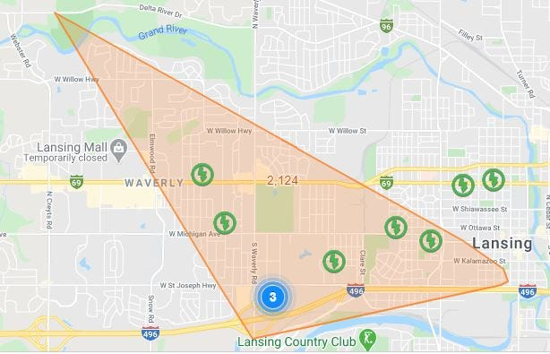 More than 2,000 Lansing Board of Water and Light customers are without power Friday, May 15.