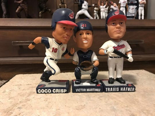 The 2005 Cleveland Indians stadium giveaway bobbleheads provided some very cool detail for Coco Crisp, Victor Martinez and Travis Hafner.