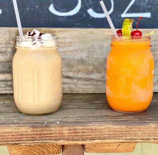 The Irish Coffee and Tequila Sunrise slushie cocktails at Sunrise Memphis.