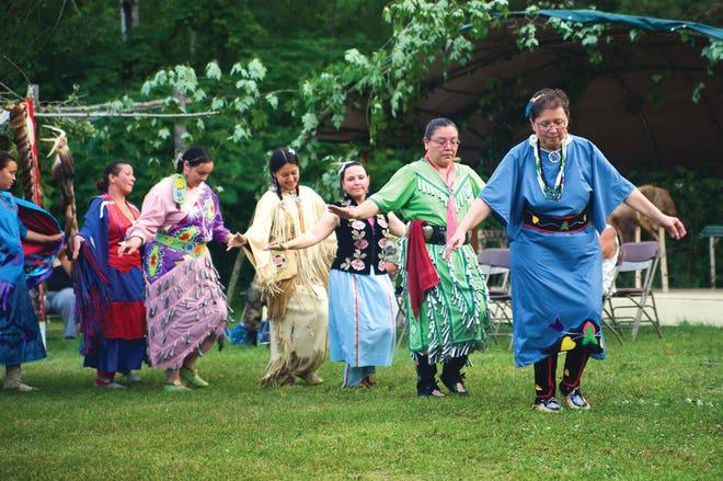 Ojibwe dancers honor St. Kateri Tekakwitha at a celebration at the Diocese of Superior. One of the churches in the diocese recently received a $43,000 donation from Lumen Christi Church in Mequon.