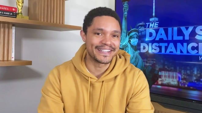 """Trevor Noah has been hosting Comedy Central's """"The Daily Social Distancing Show"""" from home since the coronavirus pandemic kicked in."""