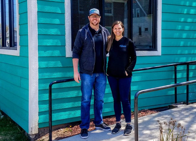 Brian and Carrie Cieslak stand in front of what will be the new home of Carrie's Crispies at 7133 W. Becher St. in West Allis, the former Dave's Pickles building. After five years of selling their gourmet Rice Krispies treats at farmers markets, various retail locations and online, this will be the first physical location for the business. They're hoping to open by late June.