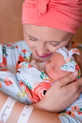 """Josslyn Storm arrived """"completely healthy"""" July 1, 2018. Her mom, Jessica, was diagnosed with breast cancer while pregnant with her."""