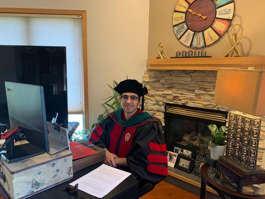 Ali Jandal was the student speaker for the medical school graduation at UW-Madison.