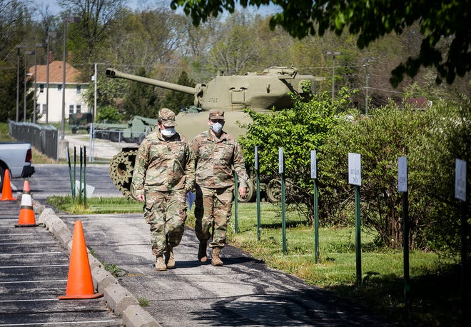 The National Guard Armory at 401 North Country Club Road in Muncie is one of 20 COVID-19 testing sites established at armories throughout the state.