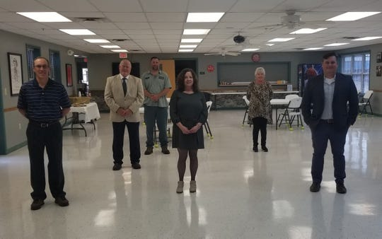 Rep. Mary Littleton met Ashland City Mayor Steve Allen and other city officials to offer congratulations in person at the Senior Center for receiving the Transportation Alternatives Grant for the Bicentennial Trail Connection Project.