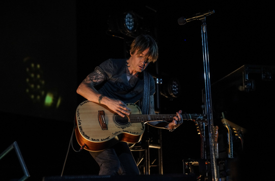 Keith Urban performs May 14, 2020, at the Stardust Drive-In in Watertown, Tenn.