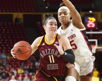 ASU women's basketball guard Robbi Ryan made All Pac-12 as a senior in 2019-20. She recently went public with details of her mental health issues during her college years.