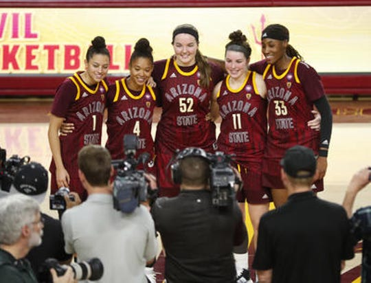 Robbie Ryan (11) was among five ASU women's basketball seniors in 2019-20. She made All Pac-12 and is hoping to continue her career playing professionally overseas.