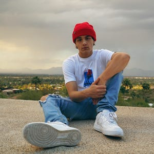 """Asher Angel filmed the music video for his new single, """"Guilty,"""" around Paradise Valley, at Camelback Mountain and the Phoenix Mountains Preserve."""