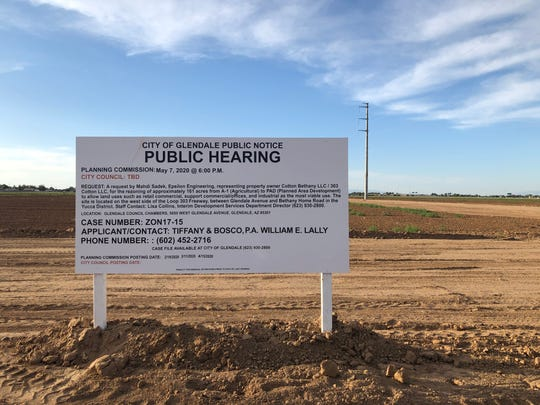The Glendale Planning Commission will vote to rezone agricultural land near Loop 303 and Bethany Home Road. City officials in 2019 said a Love's Travel Stop was planned for the site.