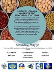 The Northern Lebanon Youth Athletic Association is coming together for a food drive on May 30.