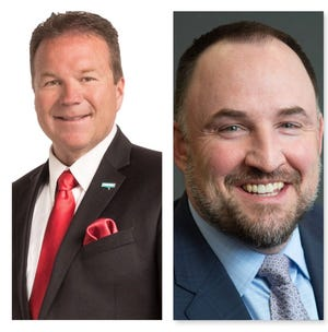 From left, Eddie Lorton and Devon Reese are running for Reno City Council's at-large seat.