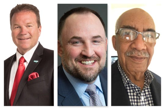 From left, Eddie Lorton, Devon Reese and Joe Moskowitz are running for Reno City Council's at-large seat.