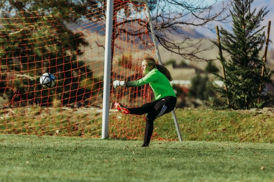 Siena Hall played goalkeeper on both the girls and boys soccer teams at Sage Ridge.