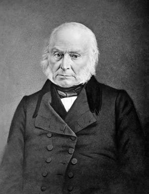 John Quincy Adams, son of John Adams, was an American statesman, diplomat, lawyer and diarist who served as the sixth President of the United States, from 1825 to 1829. A Quaker artist who would live in Richmond sketched him to early acclaim.