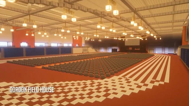 A Minecraft version of RIT's Gordon Field House, created by RIT's Electronic Video Gaming Society.