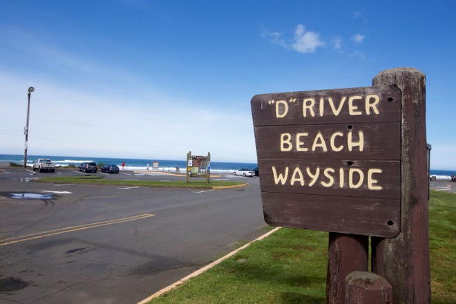 Health officials are cautioning people to avoid contact with the water at D River Beach after elevated levels of bacteria were detected.