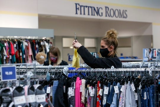 Customers shop on the first day of reopening at the West Salem Goodwill, one of a limited number of enterprises allowed to do so last week. With additional restrictions relaxing Friday, more Marion County businesses can open as long as they follow state coronavirus safety rules.
