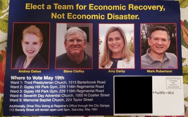Photo of the latest mailer from the 21st Century PAC.