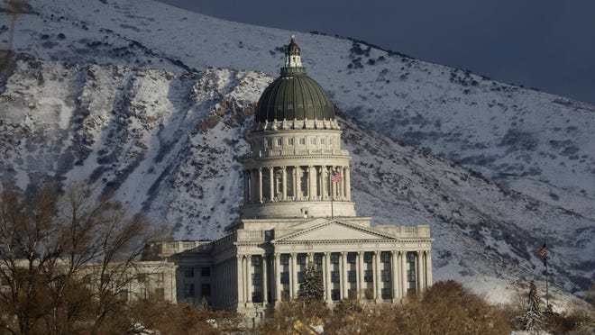 In this Jan. 17, 2020, file photo, the Utah State Capitol stands in Salt Lake City.