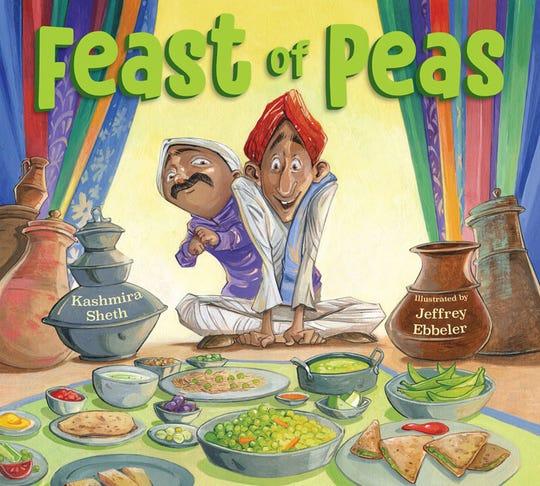 """""""Feast of Peas"""" by Kashmira Sheth, illustrated by Jeffrey Ebbleler"""
