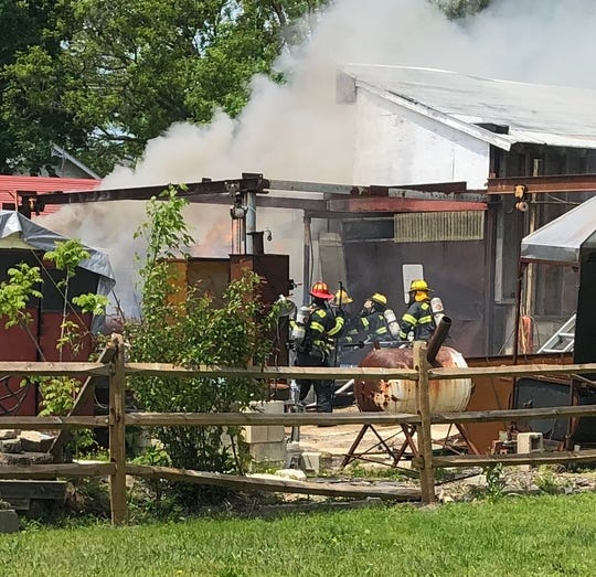 Vineland firefighters responded to a trailer fire along West Park Avenue on May 15, 2020 and prevented the flames from reaching an adjacent workshop.