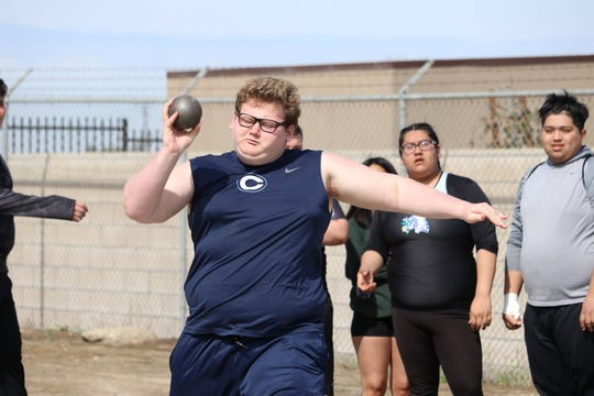 Nathan Gumbiner is a senior on the Central Valley Christian High School track and field team.