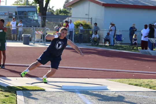 Dirk Nelson is a senior on the Central Valley Christian High School track and field team.